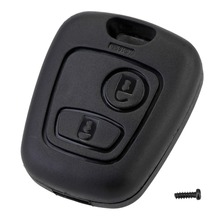 цена на 2 Button Remote Key Car Key Fob Case Replacement Shell Cover For Citroen C1 C2 C3 C4 XSARA Picasso For Peugeot 307 107 207 407