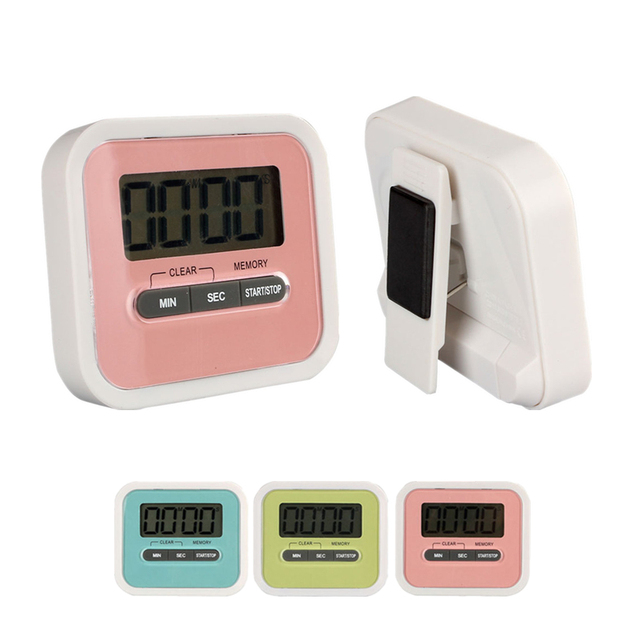 2017 New LCD Digital Kitchen Timer Portable Candy Color Square Loud  Countdown Alarm Clock Timer Kitchen