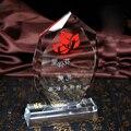 Бесплатно на заказ Гравировка 2PC гранат кристалл пламя трофей награда стеклянная спортивная медаль