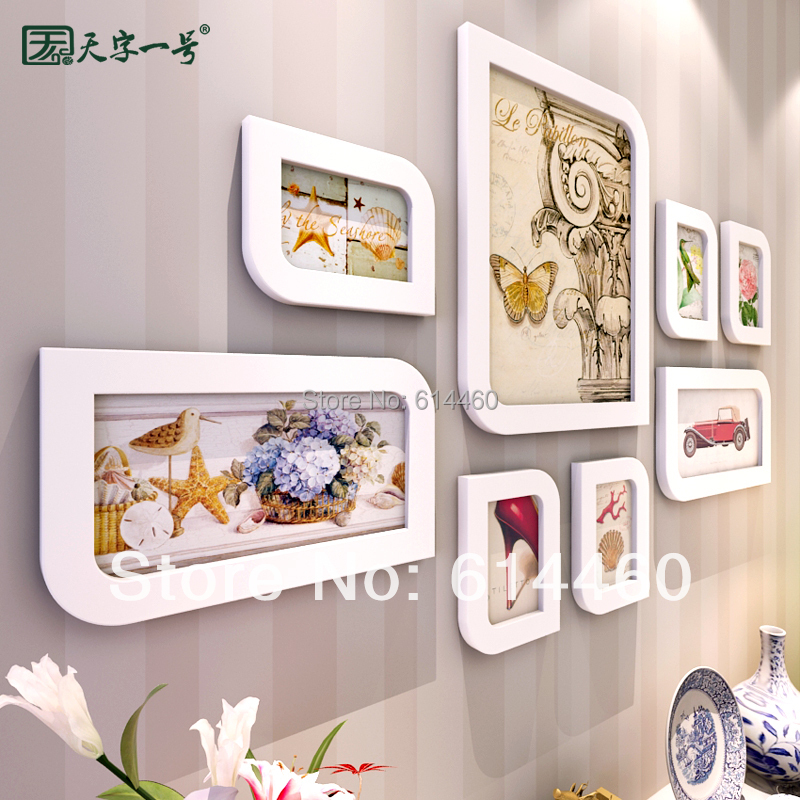 Solid Photo Frame Different Sizes Combination Wall Frame Fashion