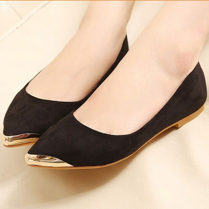 Lady's Hot sold big size (4 to 10)sexy glitter soft flock pointed toe platform thin shoes in spring summer autumn 5 colors