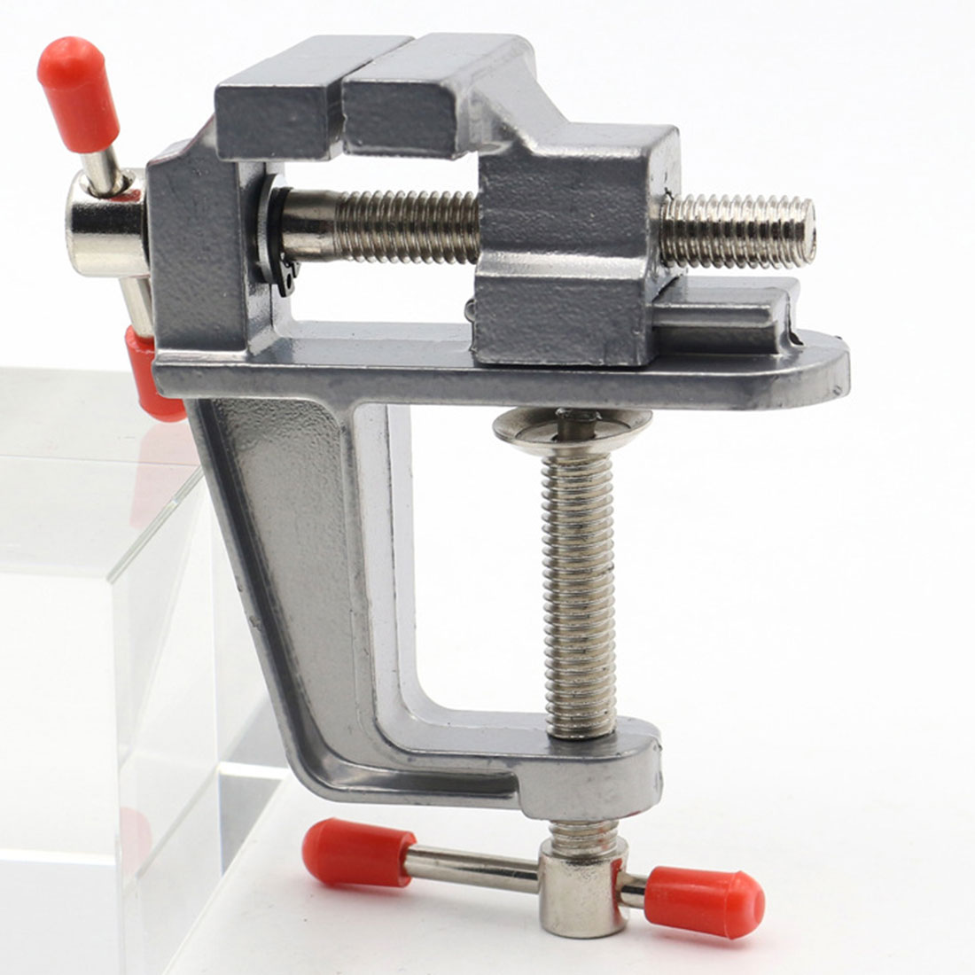 Mini Tool Vice 30mm Clamp Opening Aluminum Small Jewelers Hobby Clamp On Table Bench Vise image