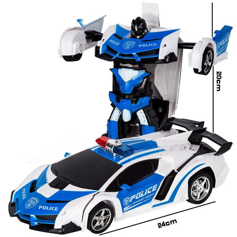 2In1 RC Car Sports Car Transformation Robots Models Remote Control Deformation Car RC Fighting Toy Kids Children's Birthday Gift цены