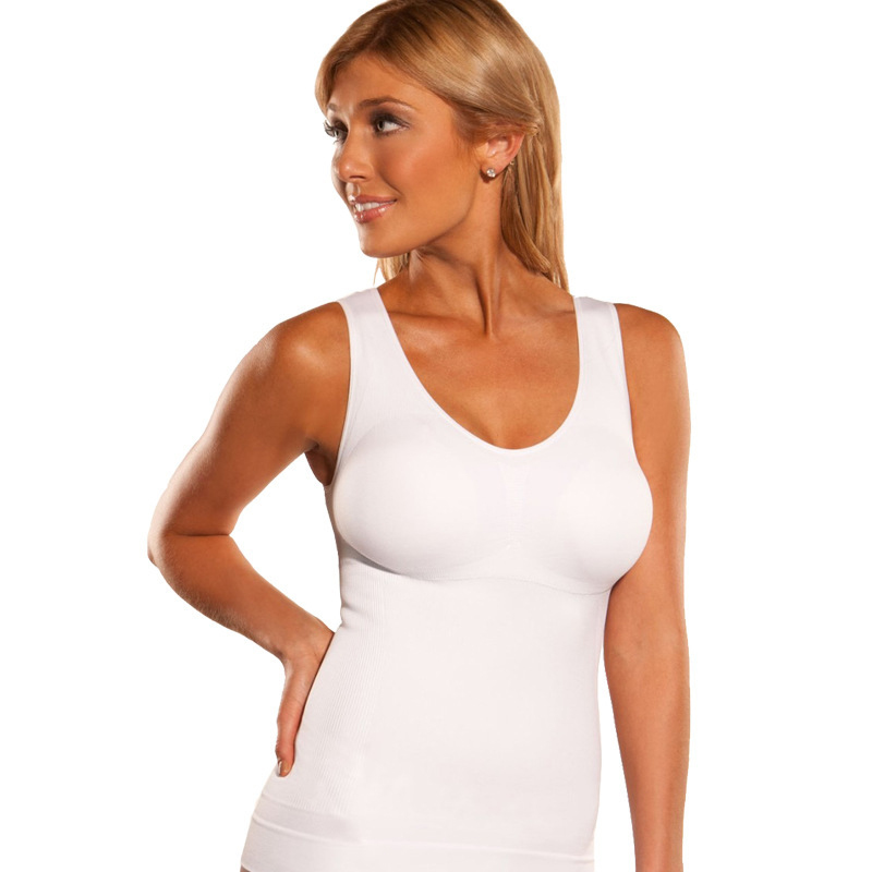 ddc64cbfbbe73 Summer Tank Top Women Sleeveless Casual Camis Shaper Stretch Cotton Basic  Tops Ladies Tanks Shapewear T shirt-in Tank Tops from Women s Clothing on  ...