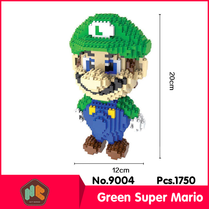 HC9004 1750Pcs Super Mario Green Series Without Original Box Building Blocks Diamond Bricks Toys Compatible With LOZ loz super mario kids pencil case building blocks building bricks toys school utensil brinquedos juguetes menino jouet enfant