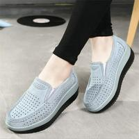 Summer Women Flats Platform Shoes Moccasins Breathable Soft Ladies Footwear Female Summer Loafers Women Shoes DC73