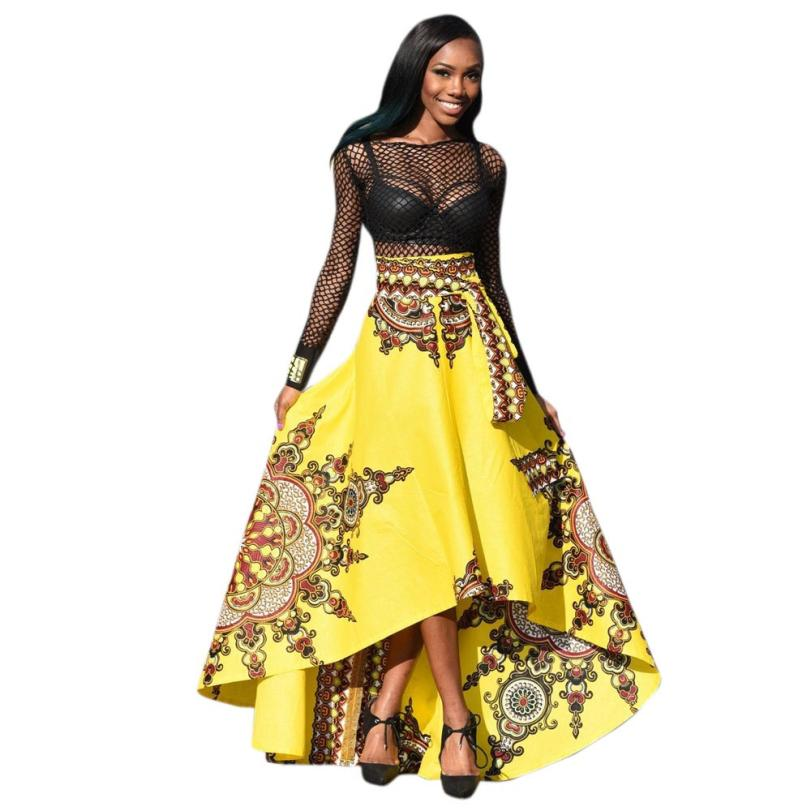 snowshine YLI New African Women Printed Summer Boho Long Dress Beach Evening Party Maxi free shipping