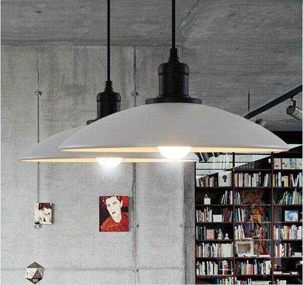 ФОТО brief black/white vintage loft iron e27 led pendant light Dia 32cm pendant lamp for restaurant dining room bar AC 90-265V 1859