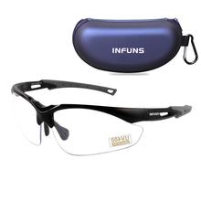 Protear Safety Glasses Protective Eyewear Clear Anti Fog Resistant Lens Military Ballistic Standard UV 400 Protection