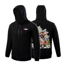 NEW Men's black clothing Long Windproof warm polar fleece shirt Outdoor sports fishing coat autumn winter men fishing Jacket