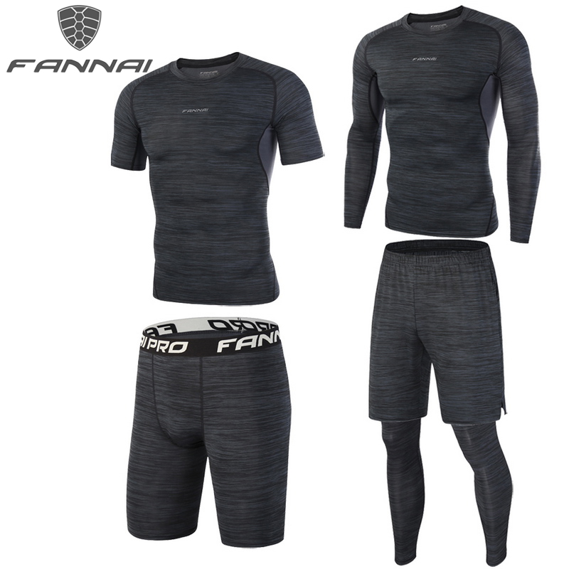 Mens Compression T Shirts Gym Workout Running Shorts Tight fit Printed Dri-fit