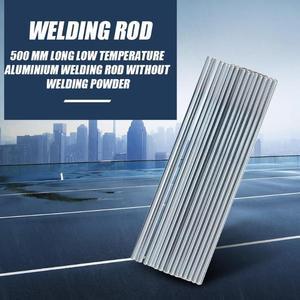 10 шт. 500 мм алюминиевые сварочные электроды, низкотемпературный припой с сердечником из флюса, алюминиевые ремонтные сварочные прутки