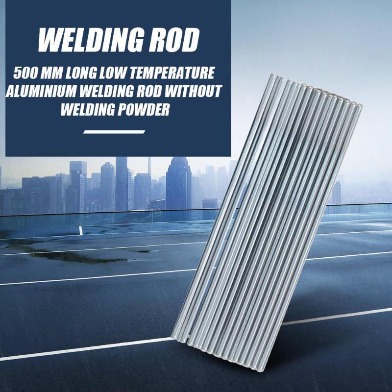 10pcs 500mm Aluminum Welding Electrodes Flux Cored Low Temperature Brazing Wire Air Condition Aluminum Repairing Welding Rods