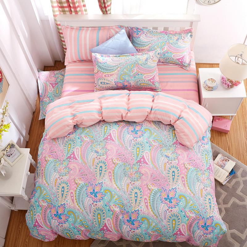 UNIHOME Cotton Blend Duvet Cover Sets, Vintage Floral Pattern Design(hongfengjiaren)
