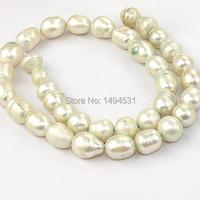 Atacado cor arroz branco de água doce pérolas cultivadas 9 - 10 mm jóia jóias 15 polegadas grátis