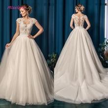 Silky Organza Vestido De Noiva A-line Wedding Dress 2019