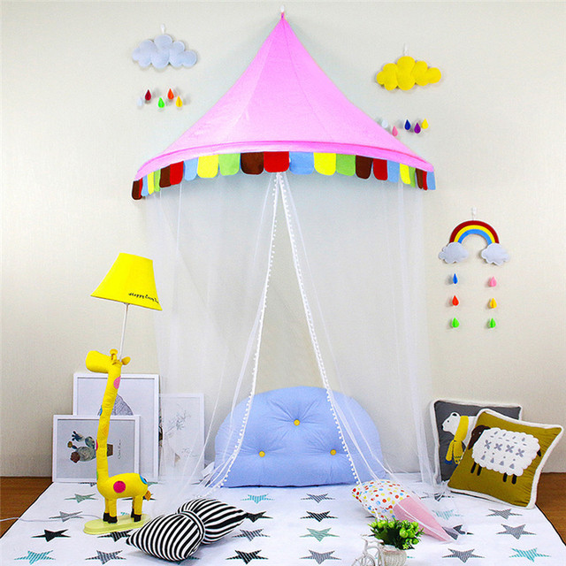 Summer Children Reading Corner Tent Crib Netting Bedroom Bed Valance Kids  Girls Mantle Mosquito Net Tents