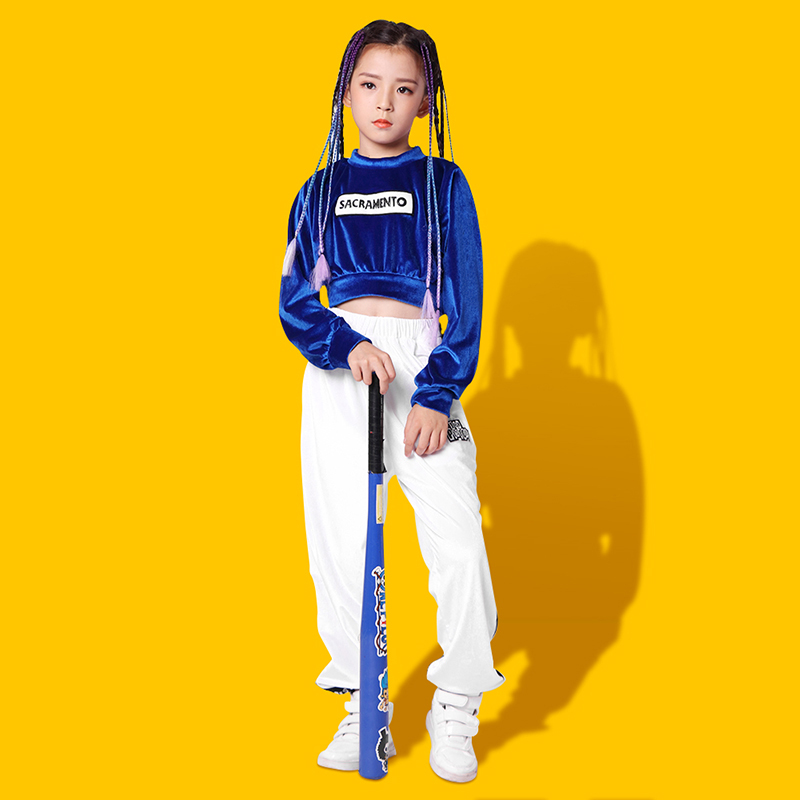 Children 39 s hiphop hip hop set children 39 s hip hop costumes girls autumn and winter dress girls jazz dance practice clothes