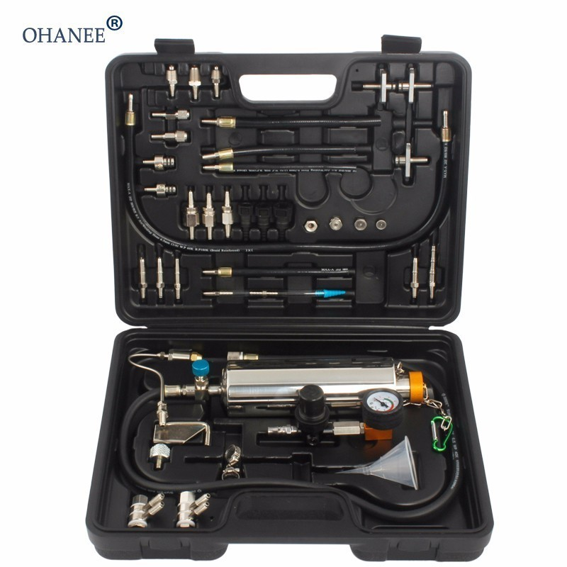 OHANEE GX100 Auto Injector Tester Fuel Pressure Vacuum Tester Auto Fuel Injector Tester Car Fuel Injector Cleaner Washing Tool