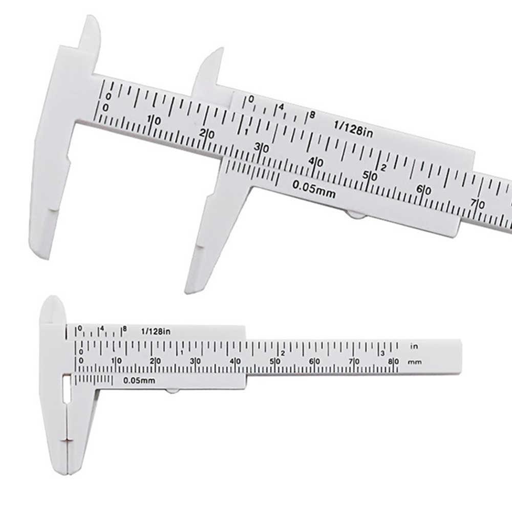 80mm Mini Nhựa Trượt Vernier Caliper Đo Đo Công Cụ Thước Micromet Dụng Cụ Cầm Tay