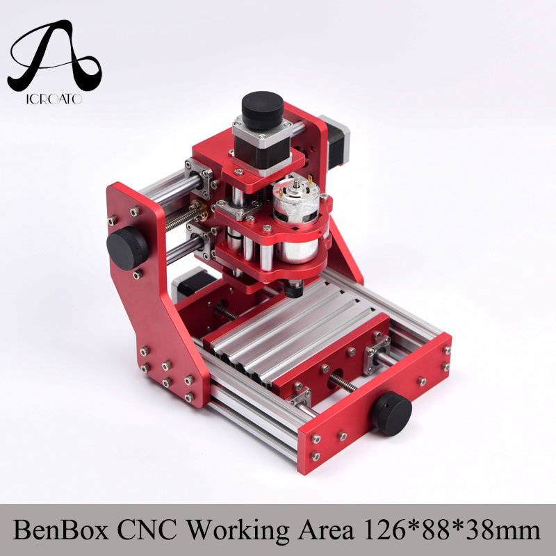 Diy CNC engraving machine cnc 1310 Benbox PCB Milling Machine CNC Wood Carving Mini Engraving router PVC working area 126*88*38m aluminum lathe body cnc 6040 router 1605 ball screw cnc frame kit diy cnc engraving machine