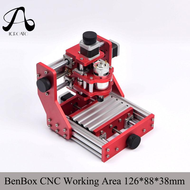 Diy CNC machine de gravure cnc 1310 Benbox PCB Fraiseuse CNC Sculpture Sur Bois Mini Gravure routeur PVC zone de travail 126*88*38 m
