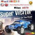 Coche de Competición Del Rc Wltoys A979 Monster de Alta Velocidad 50 Km/H 1/18 2.4 GHz RTR 4WD Con Transmisor de Control Más de 100 m