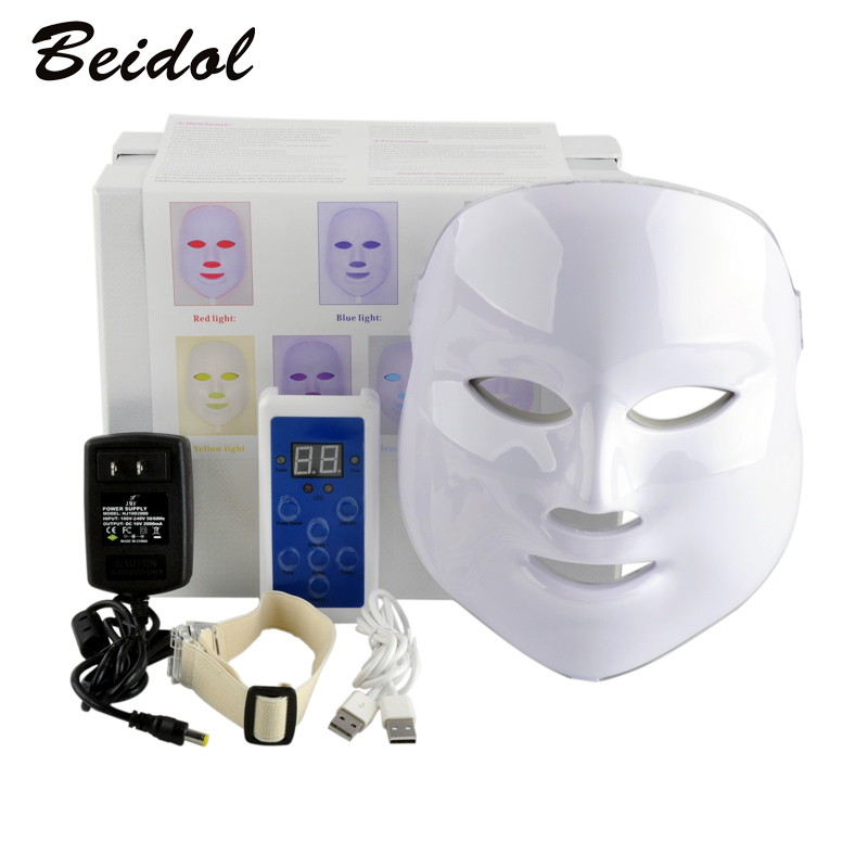 7Color Korean LED Photodynamic Facial Mask Home Use Beauty Instrument Anti-acne Skin Rejuvenation LED Photodynamic Beauty Masks anti acne pigment removal photon led light therapy facial beauty salon skin care treatment massager machine
