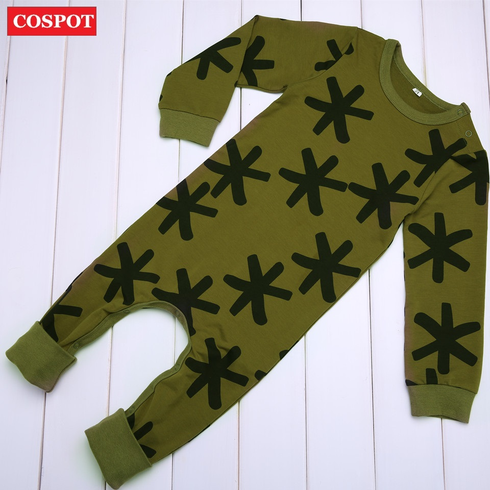 COSPOT Newborn Long-sleeved Romper Baby Boys Cotton Autumn Spring Jumpsuit Toddler Boy Fashion Tank Jumper 2018 New Arrival 30D puseky 2017 infant romper baby boys girls jumpsuit newborn bebe clothing hooded toddler baby clothes cute panda romper costumes
