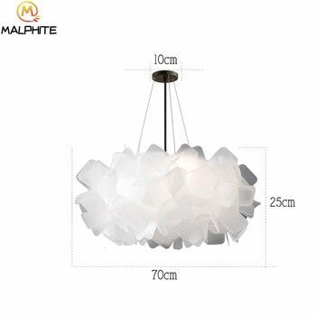 PVC Petals Pendant Lampshade LED Cafe Bedroom living room Restaurant Ceiling Room Decoration LED Hanging Lamp lighting fixtures