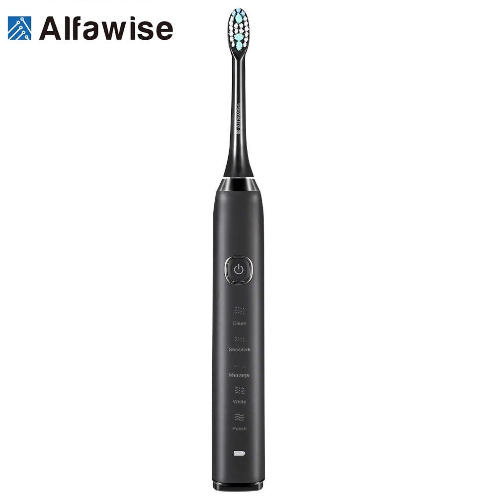 Alfawise S100 Sonic Électrique Brosse À Dents De Nettoyage Final Blanchiment Avancée de Sauvegarde Santé Bucco-dentaire Soins Outils De Nettoyage pour La Maison