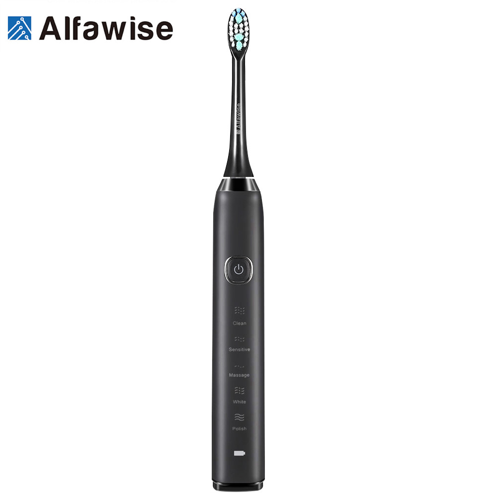 Alfawise S100 Sonic Electric Toothbrush Ultimate Cleaning Whitening Advanced Safeguard Oral Health Care Cleaning Tools for Home