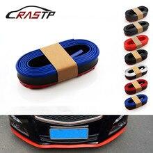 RASTP-универсальный автомобильный бампер размером 2,5 м, наклейки в виде губ, протектор переднего бампера, разделитель для губ, автомобильные наклейки, комплекты для тела, Резиновая полоса, RS-LKT006