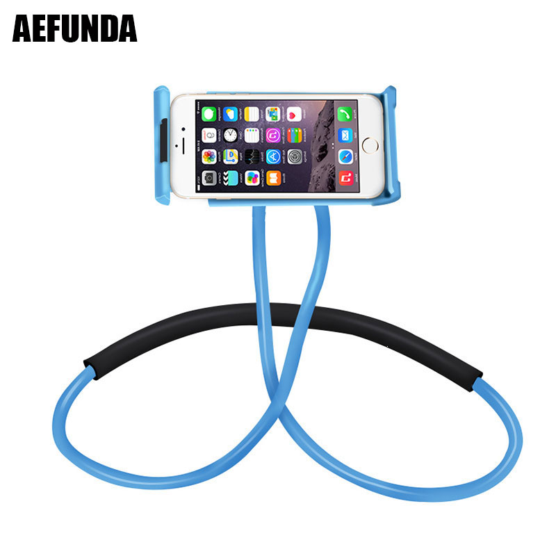 Universal Flexible Lazy Neck Phone Holder For iPhone 6 7 8 Plus X Samsung Xiaomi 360 Degree Rotation Cellphone Stand Bracket