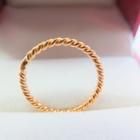 New Arrival Pure 999 24K Yellow Gold Band Women Unique Ring 2 2.5g Size US 6