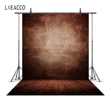 Laeacco Gradient Solid Color Wooden Floor Grunge Portrait Photography Backdrops Baby Shower Backgrounds For Photo Studio Props