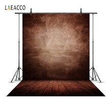 Laeacco dégradé couleur unie plancher en bois Grunge Portrait photographie décors fonds de douche de bébé pour accessoires de Studio Photo