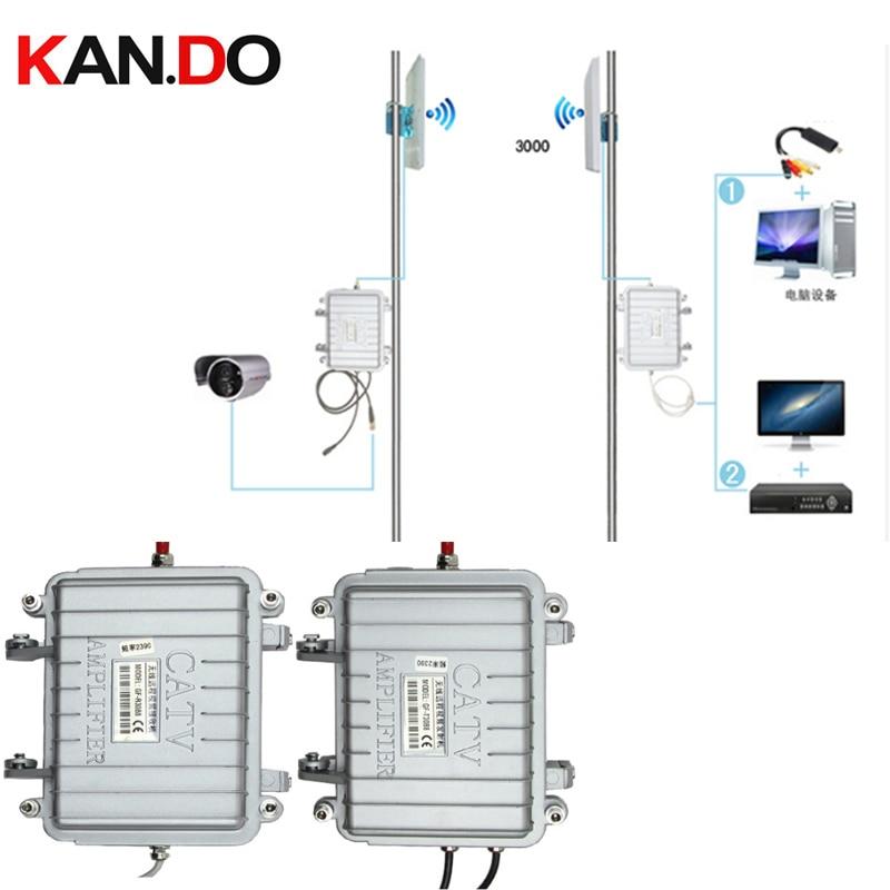 Rainproof 3KM Work 2.4G Wireless Cctv Transceiver 2.4 Video Audio Transmitter Image Transmission Cctv AV Sender CATV Amplifier