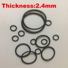300 шт. 17×2,4 17*2,4 18×2,4 18*2,4 19×2,4 19*2,4 OD * Толщина черный нитрила NBR Chemigum резинового кольца сальник прокладка уплотнительное кольцо