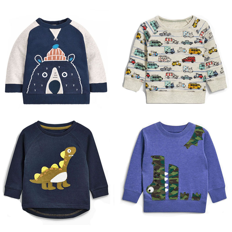 New 2017 Brand Quality 100% Terry Cotton Sweaters Baby Boys Clothes Children Clothing t shirt Bebe Boys Hoodies Tee Kids Outwear
