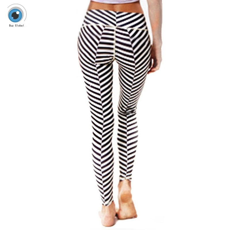 sport tights women leggings yoga running pants high waist cropped ...