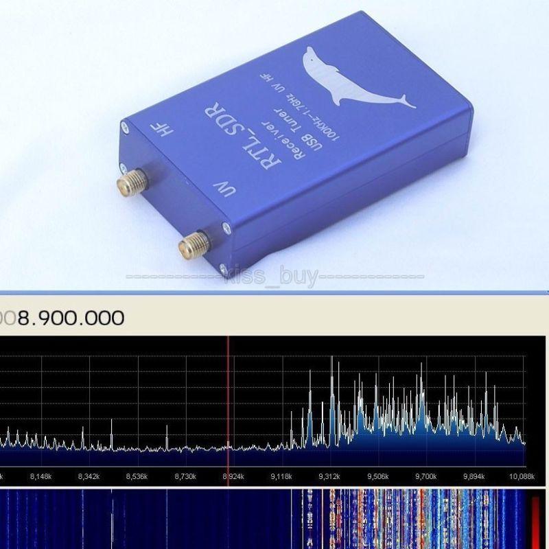 2015 100 KHz-1.7 GHz UHF VHF HF RTL. SDR récepteur de Tuner USB 8232 RTL2832U + R820T2 aviation AM, FM (NFM, WFM), CW, DSB, LSB, USB