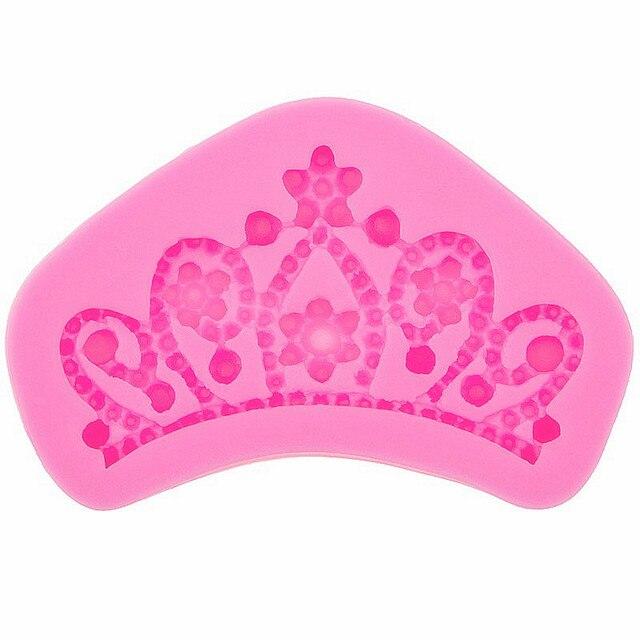 Moules de Fondant pour décoration de gâteaux, couronne royale, caoutchouc de Silicone, moule Flexible pour aliments-en résine, argile, chocolat, Fondant