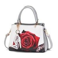 Women Bag Casual PU Leather Shoulder Bag Messenger Crossbody Bags High Capacity Stylish Print Bag For