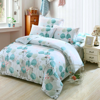 Plum Blossom Pattern Duvet Cover 3/4 pcs Bedding Set Duvet Cover Adult Kids good quality Bed Linen twin full Queen king Size