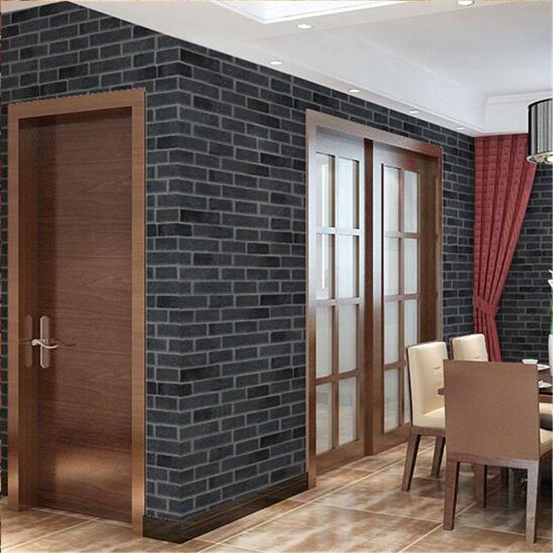 Beibehang Thickness Wallpapers Papel De Parede Waterproof Brick Wallpaper Chinese Style Fake Brick Culture Brick Wall Wallpaper