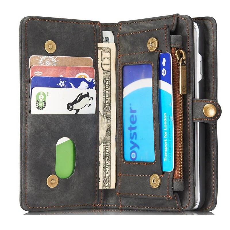 bilder für Flip Brieftasche Aus Echtem Leder Telefon Fall Abnehmbare Handy Auto Slot + halter Abdeckung Für Samsung Galaxy S7 S7 egde S8 S8 plus