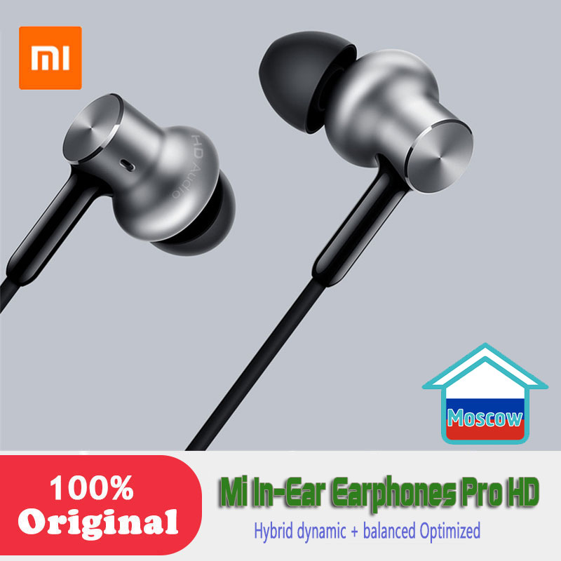 Newest <font><b>Xiaomi</b></font> Original In-Ear <font><b>Earphones</b></font> Pro <font><b>HD</b></font> Hybrid dynamic + balanced Optimized sound quality Circle Iron Dual Drivers image