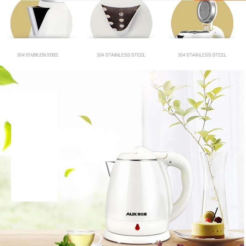 220V Household 1.2L Electric Kettle Food Grade 304 Stainless Steel Inner Anti-scald Material Fast Boiling EU/AU/UK Plug 220v 600w 1 2l portable multi cooker mini electric hot pot stainless steel inner electric cooker with steam lattice for students