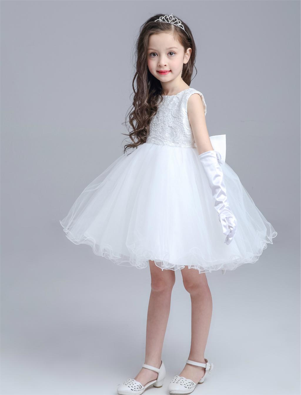 High end Grey Girls Wedding Dress Princess Big Bow Sleeveless Western  Children Party Wear Vestidos 2017 Girls Clothes AKF164040-in Dresses from  Mother ... 15bdf4893d56